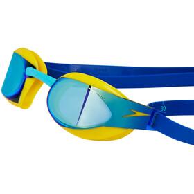 speedo Fastskin Elite Mirror Goggle Junior Empire Yellow/Blue